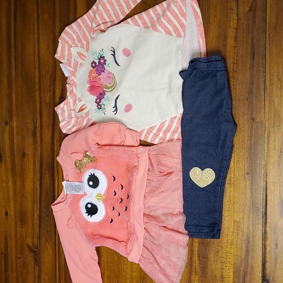 Nannette Kids Girls Winter Clothes Set, Size 18M